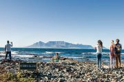Table Mountain Robben Island view